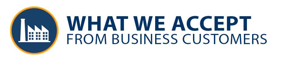 Marin Hazardous Waste - Business Accepted Wastes